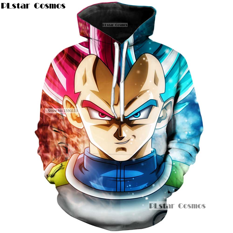 YX GIRL Anime Hoodies Dragon Ball Z Pocket Hooded Sweatshirts Kid Goku 3D Hoodies Pullovers Men Women Long Sleeve Outerwear