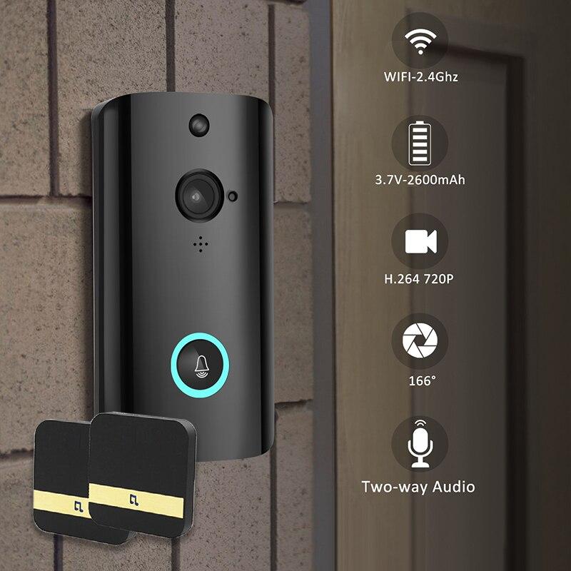 WiFi Smart Video Doorbell Camera Wireless Door Bell 720P HD Wireless Home Security Doorbell Camera PIR motion DetectionWiFi Smart Video Doorbell Camera Wireless Door Bell 720P HD Wireless Home Security Doorbell Camera PIR motion Detection