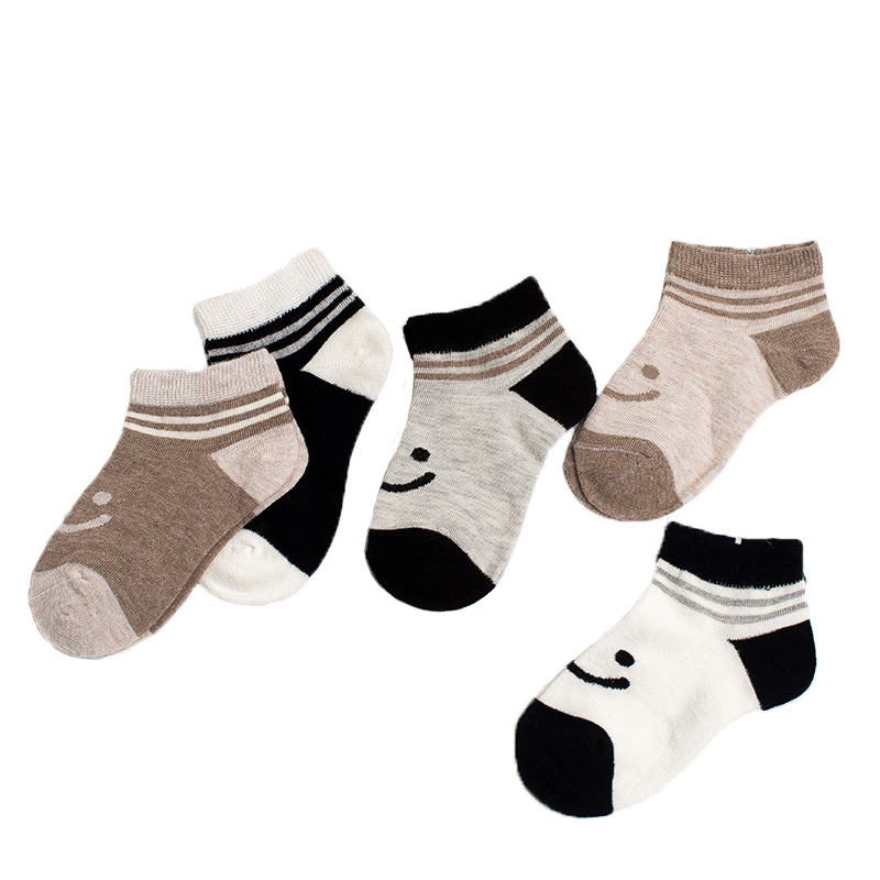 Striped Socks for Children 5 Pairs Cotton Baby Boy Socks Cartoon Animal Baby Socks for Boy Cheap Stuff Baby Clothes Accessories