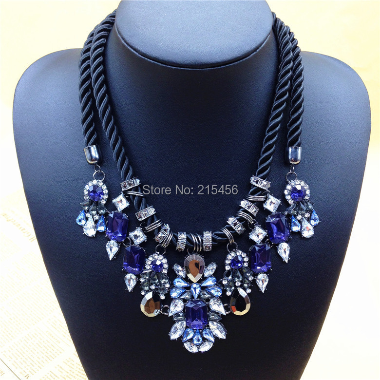 Newest Gorgeous Brand Necklace Fashion Jewelry Brunet Department Statement Necklace Women Choker Crystal Necklaces Pendants