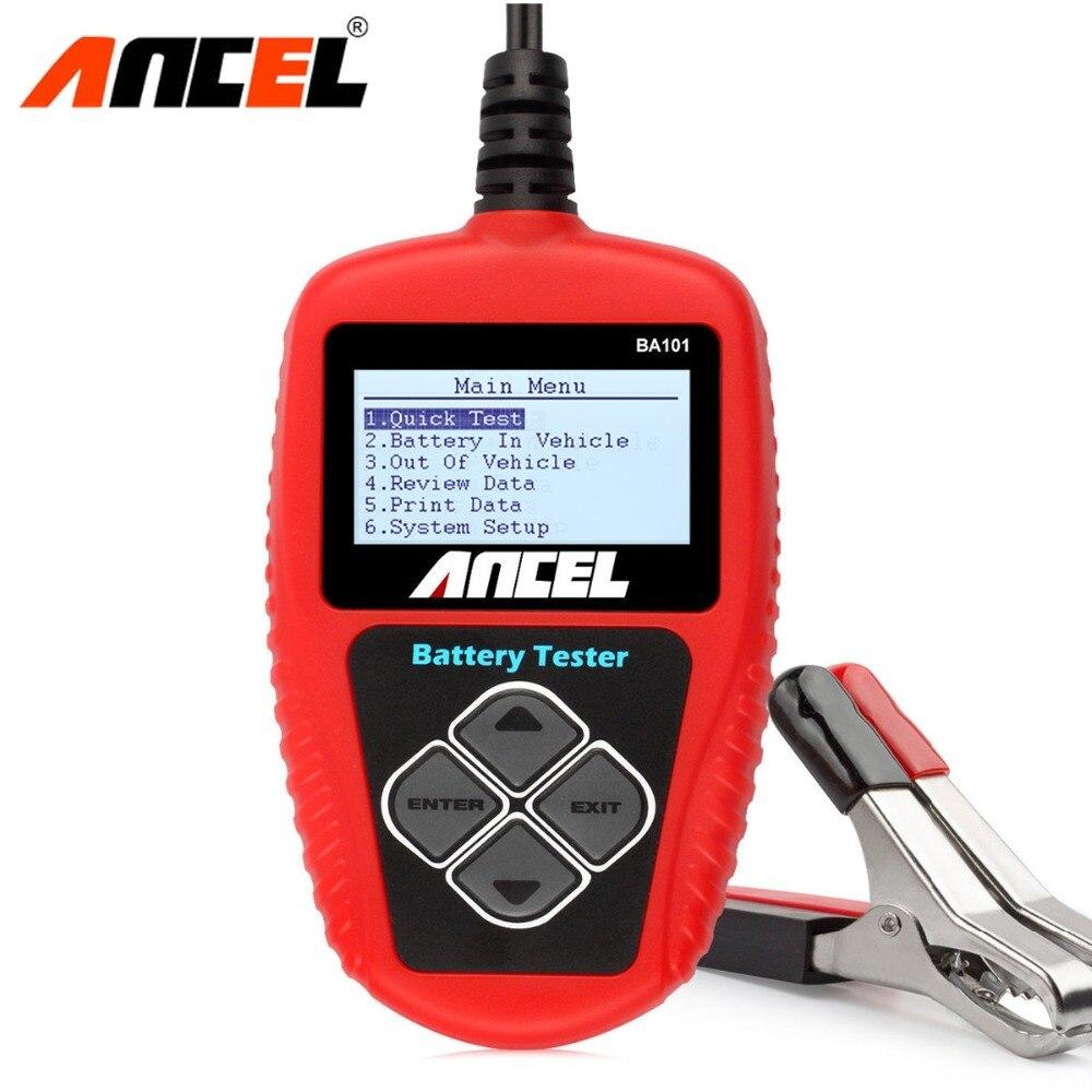 Ancel BA101 Auto Batterie Tester 12 v Digital Batterie Tester Analyzer 100 2000CCA 220AH mit Japanischen Korea Französisch Auto Diagnose
