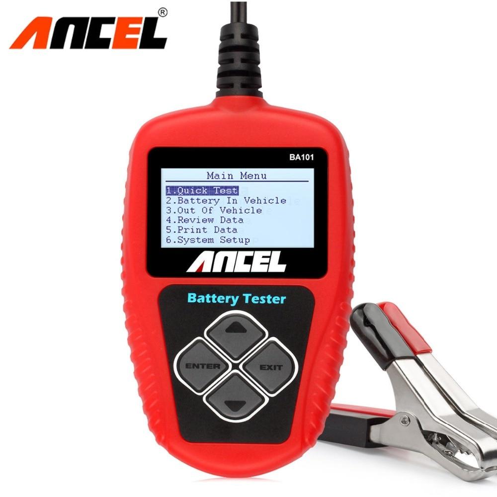 Ancel BA101 Batterie De Voiture Testeur 12 v Numérique Batterie Testeur Analyseur 100 2000CCA 220AH avec Japonais Corée Français Voiture De Diagnostic