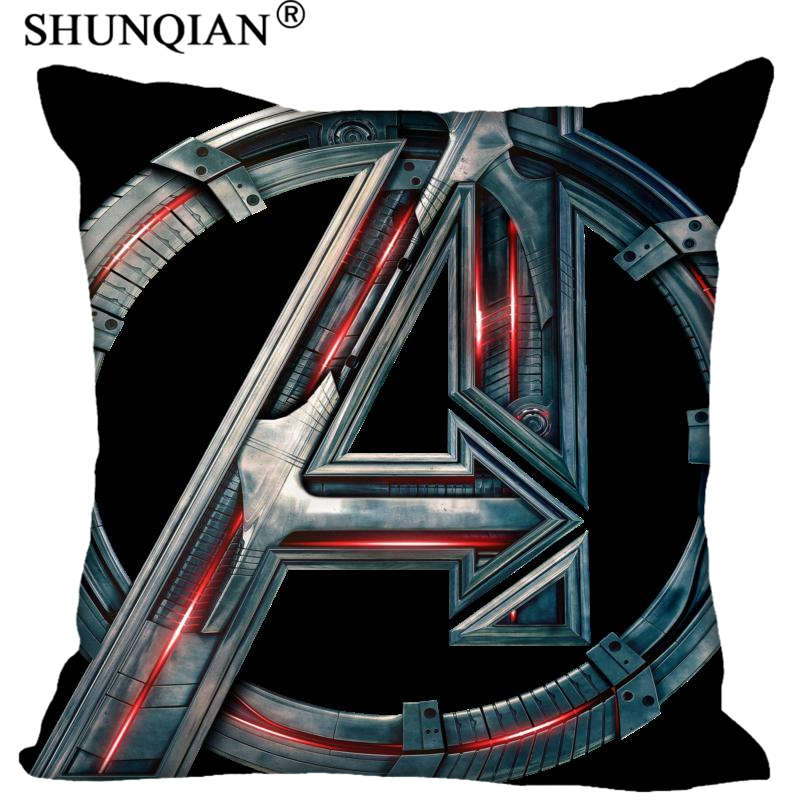 High Quality Marvel Heroes Logo Style Throw Pillowcase Square Zippered Pillow Cover Custom Gift 40X40cm Drop Shipping
