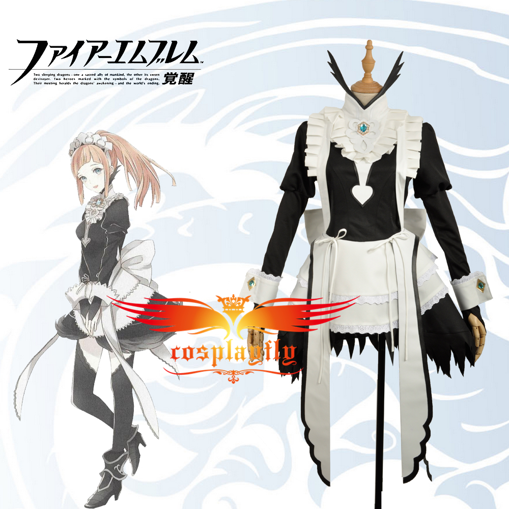 Fire Emblem If Felicia Maid Dress Fancy Lovely Cosplay Costume Custom Women Adult Women Outfit Clothing