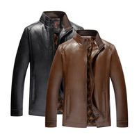 2018 Men's Jackets Coats Motorcycle Leather Jackets Men Winter Leather Clothing Male Casual Coats Clothing cold current jacket