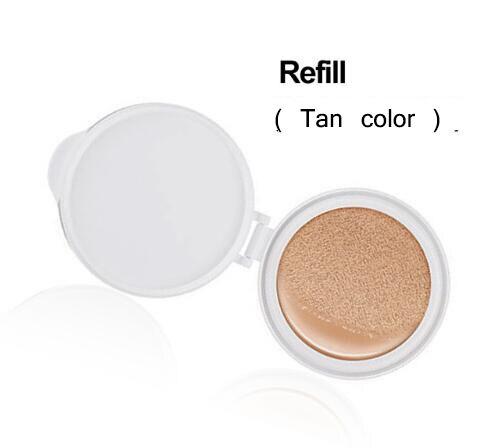 Солнцезащитный крем на воздушной подушке BB CC Крем-корректор увлажняющий тональный крем отбеливающий макияж голый для лица красивый макияж корейская косметика - Цвет: Refill TAN