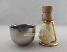 Рождественский подарок деревянной ручкой щетина с подставкой держатель и чаша для бритья щетки бесплатная доставка(China (Mainland))