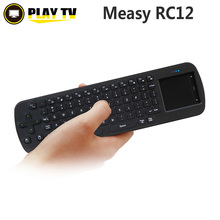 Original Measy RC12 Touchpad Mini Fly Air Mouse 2.4GHz wireless Keyboard for google android Mini PC TV Palyer box