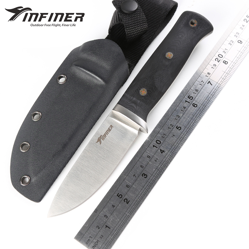 INFINER HanK A2 blade G10 handle fixed blade hunting knife KYDEX Sheath tactical camping survival outdoors gear knives EDC tools