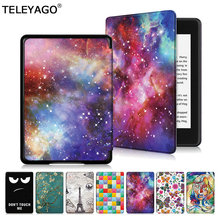 For Amazon Kindle Paperwhite 4 (Only fit 10th Gen,2018 Release) E-Reader Case Slim Painting Flip Leather Case Smart Cover Shell