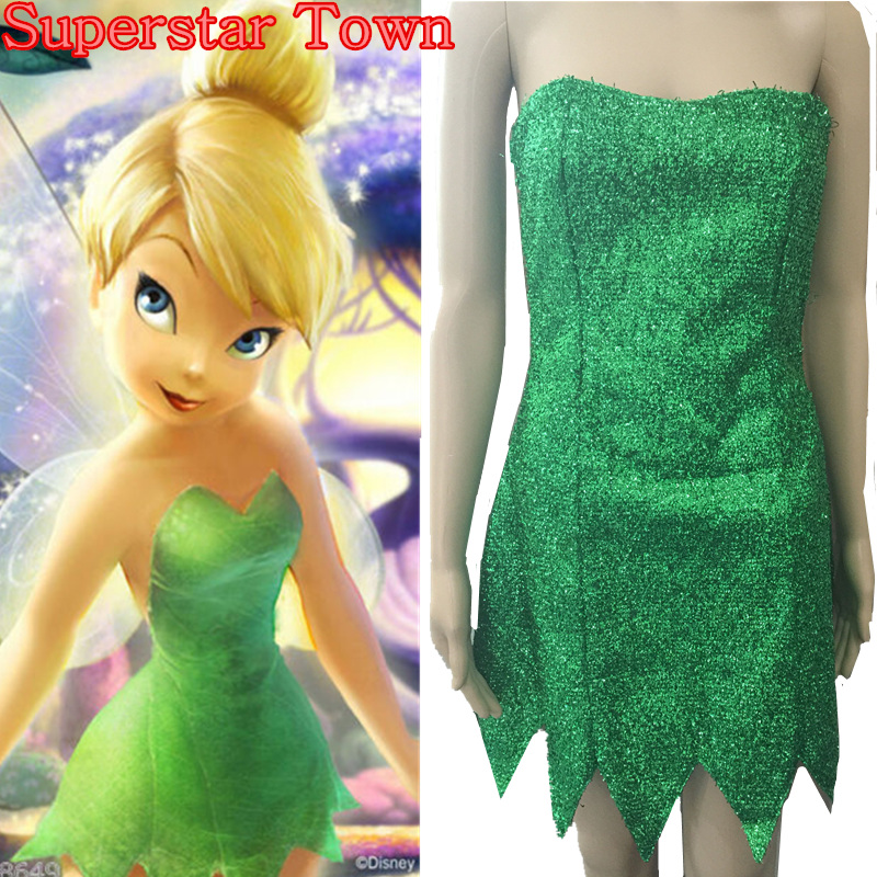 Tinkerbell Costume For Women Summer Anime Dresses Tinker Bell Cosplay Tinkerbell Dress Green