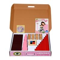 Baby Toy Montessori Set Brown Stairs Pink Tower Long Rods Binomial Cube Cylinder Blocks Preschool Kids