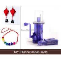 Free Shipping 5PCS/lot i Cord maker Knitting Machine Spool Knitter wool winder DIY Hand Mill Spool Knitter E186