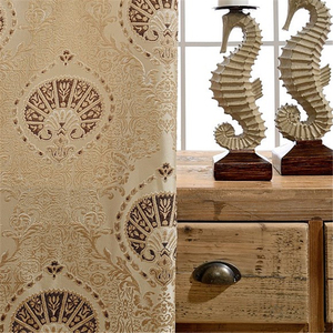 Image 4 - European luxury 3D embossed custom Blackout curtains for Living Room royal aristocratic curtains for Bedroom/Kitchen Windows