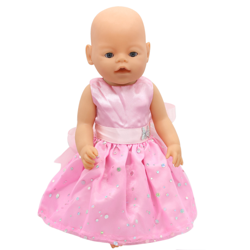 Zapf Baby Born Doll Clothes 15 Styles Bowknot Princess Skirt Dress Fit 43cm Zapf Baby Born Doll Accessories Girl Gift X-171  baby born doll clothes pink retro princess dress fit 43cm baby born zapf or 17inch doll accessories high quality love 182