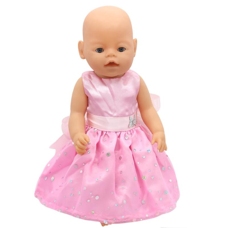Zapf Baby Born font b Doll b font Clothes 15 Styles Bowknot Princess Skirt Dress Fit