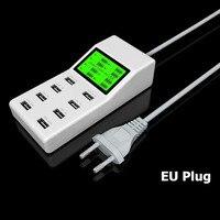 Phổ Màn Hình Hiển Thị MỸ EU ANH Cắm Travel AC Power Adapter ổ cắm smart 8 cổng usb webcam sạc đối với điện thoại di động tablet máy ảnh