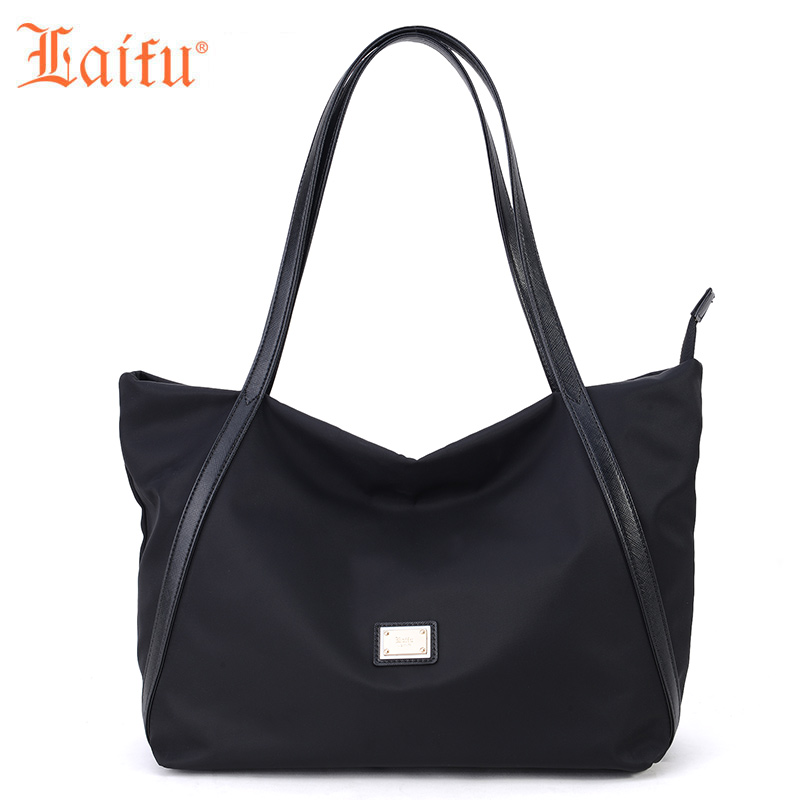 Laifu 2018 New Fashion Women Handbag Tote Shoulder Bag Mother Diaper Bag Nylon Waterproof Lightweight Durable, Black детские товары для ванной ai laifu