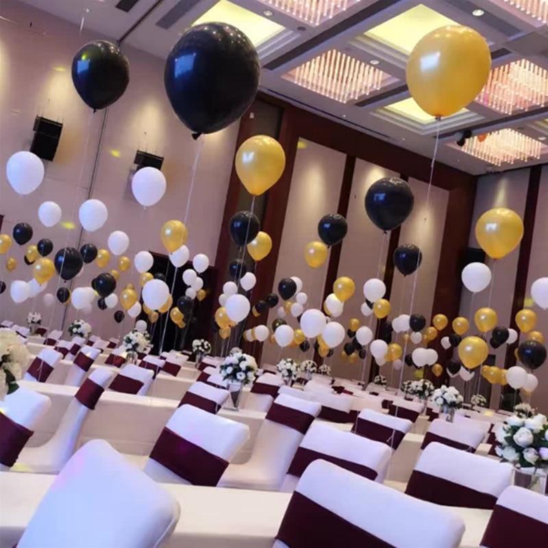 Aliexpresscom Buy Silver Black Gold Balloons 10pcs 12 Inch