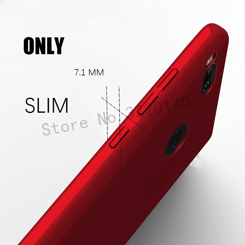 360 Degree Full Cover Cases For Xiaomi MI A1 mi 5x case Phone shell For Xiaomi redmi Note 4 4X case For redmi 4A 4X With Glass5