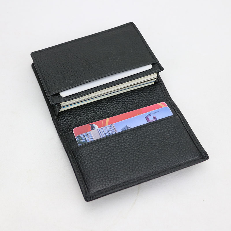 Customized Letters Service Genuine Leather Business Card Holder Men Women Leather Card Case