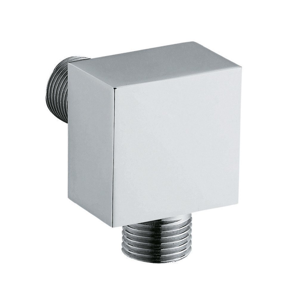 High Quality New Bathroom Faucet Accessories Brass Wall Mounted Shower Hose Connector Wall Elbow Unit