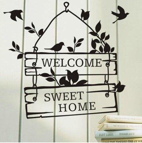 Welcome Sweet Home Sign Bedroom Living Room Door Window