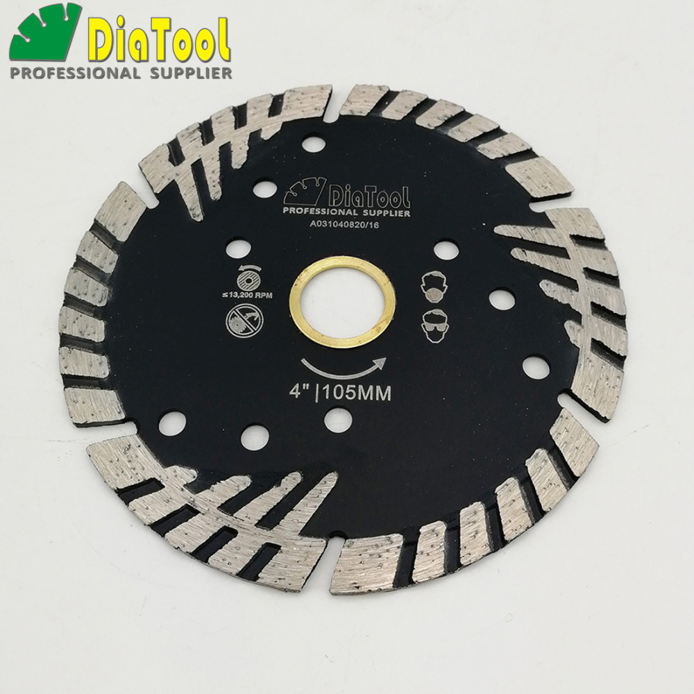 Image 3 - DIATOOL Hot pressed Diamond turbo Blade with Slant Triangle teeth Diamond cutting disc for Multi puprose Grinding wheel-in Saw Blades from Tools