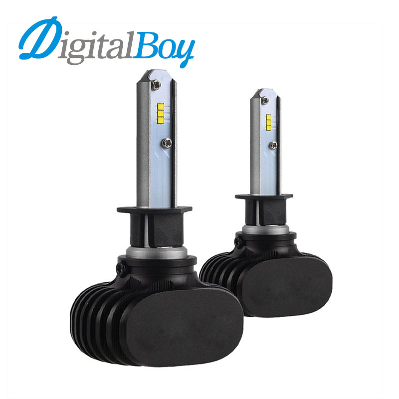 New H1 LED Headlight Car Bulbs LED Single Beam Headlamp 50W 8000lm Auto H1 Lights Bulb 6000k Car Replacement Front LED Lights  1pair dc9 36v h1 cob 160w 8000lm led headlight kit lights beam bulbs 6000k external lights