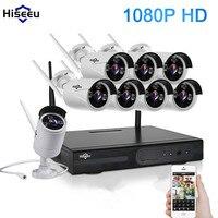 2MP Wireless CCTV System 1080P 8CH HD Wireless NVR Kit HDD Outdoor IR Night Vision IP