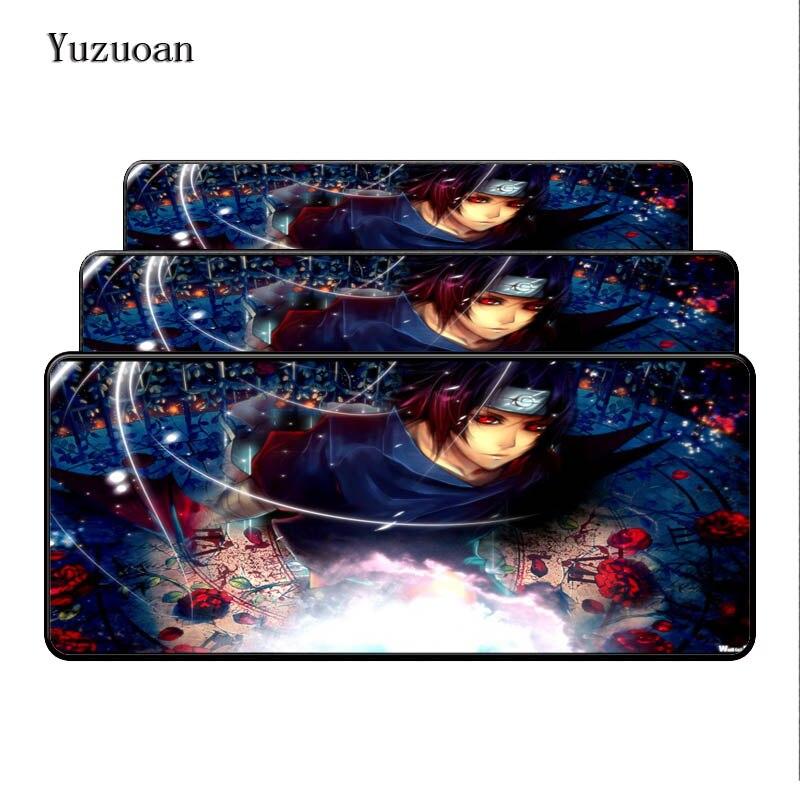 Yuzuoan 90x40 см XL коврик для мыши Наруто Япония аниме большой Мышь pad Высокое качество Ноутбук gaming keyboard красивые стол коврик