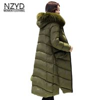 2018 Winter Jacket Women New Hooded Fur Collar Thickening Warm High Quality Down Cotton Coat Fashion