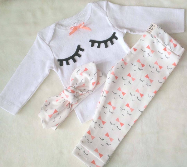 3pcs//set Fashion Suit Casual Long Sleeves Clothes Set for Kids Baby Newborn Girl