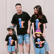 cartoon t shirt family look mommy and me clothes mother daughter dad son tee shirts mom mum son matching outfits dress clothing dear mum and dad