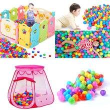 100 개/몫 바다 공 에코 친화적 인 다채로운 공 부드러운 플라스틱 재미 있은 아기 아이 수영 구 덩이 장난감 물 풀 바다 파도 공 야외 재미