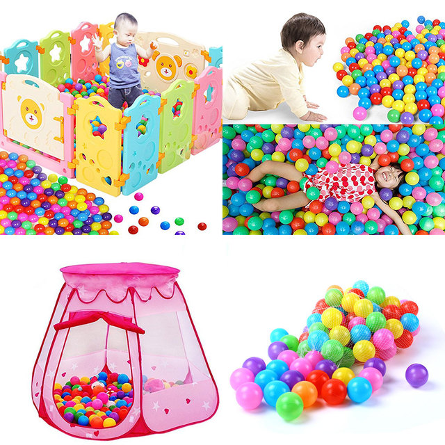 100pcs/lot Ocean Ball Eco Friendly Colorful Ball Soft Plastic Funny Baby Kid Swim Pit Toy Water Pool Ocean Wave Ball Outdoor Fun