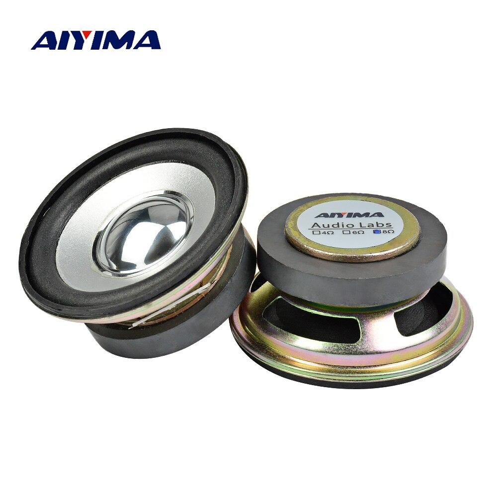 2.5Inch Audio Portable Speakers 8Ohm 5W DIY Magnetic Square Hifi Full Range Speaker Horn Stereo Woofer Loudspeaker