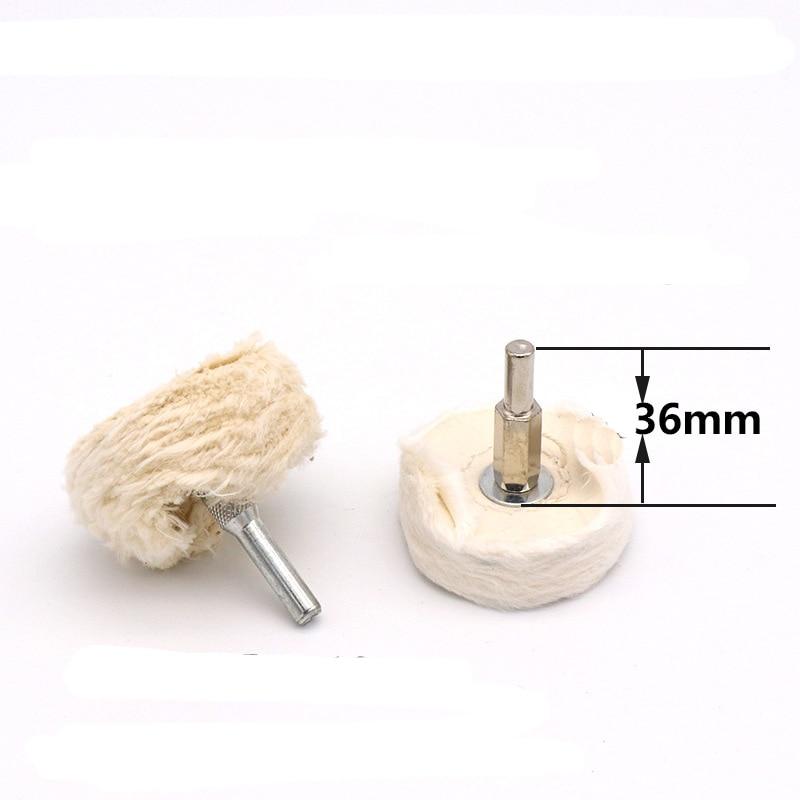 T Shape 50mm 75mm 100mm Diameter White Cloth Polishing Wheel 6mm Shank Buffing Grinding Head For Dremel Rotary Abrasive Tool