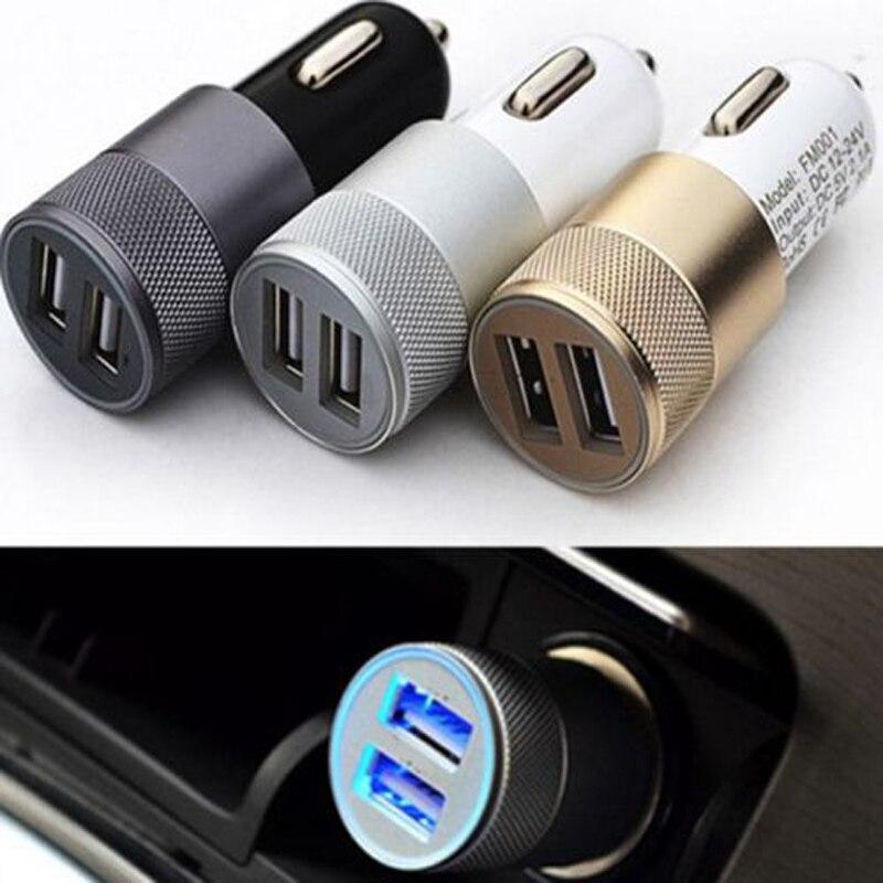 Mini Dual USB Car Charger For Iphone 6 6s Plus 5s Universal Car Phone Charger For Ipad USB Adapter For Samsung USB Cigar Socket