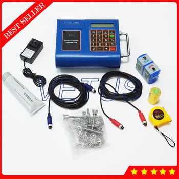TUF-2000P Digital Ultrasonic Flowmeter Portable Liquid Flow Meter with built-in mini thermal printer DN50-700mm TM-1 Transducer