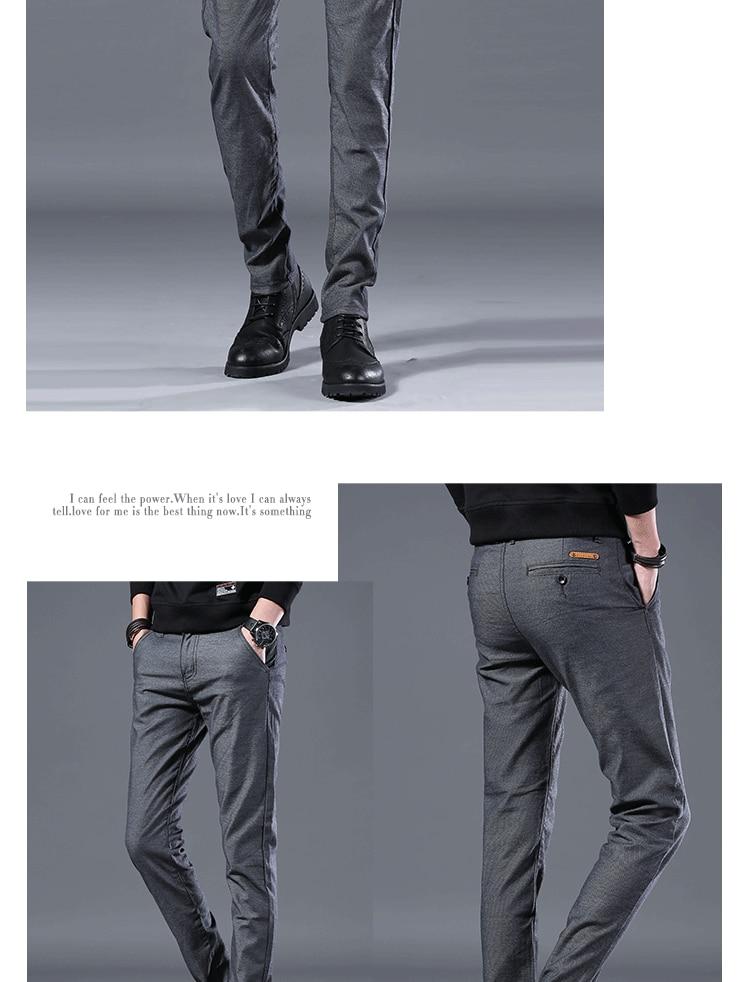 HTB1LJm0LAvoK1RjSZFwq6AiCFXaB Men's Business Casual Pants Trend Designer Korean Style Slim Male Trousers Classic Plaid High Quality Straight Stretch Pants Men