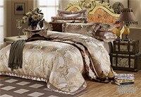 IvaRose Avrupa tarzı altın Lüks jakarlı yatak seti yatak nevresim + çarşaf + yastık tencel pamuk yorgan setleri