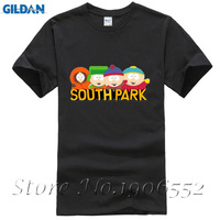 Summer Style Fashion Cotton Pattern T Shirt Mens Clothing Cartoon Sitcoms SOUTH PARK TShirt With Short Sleeve Top Tees euro size