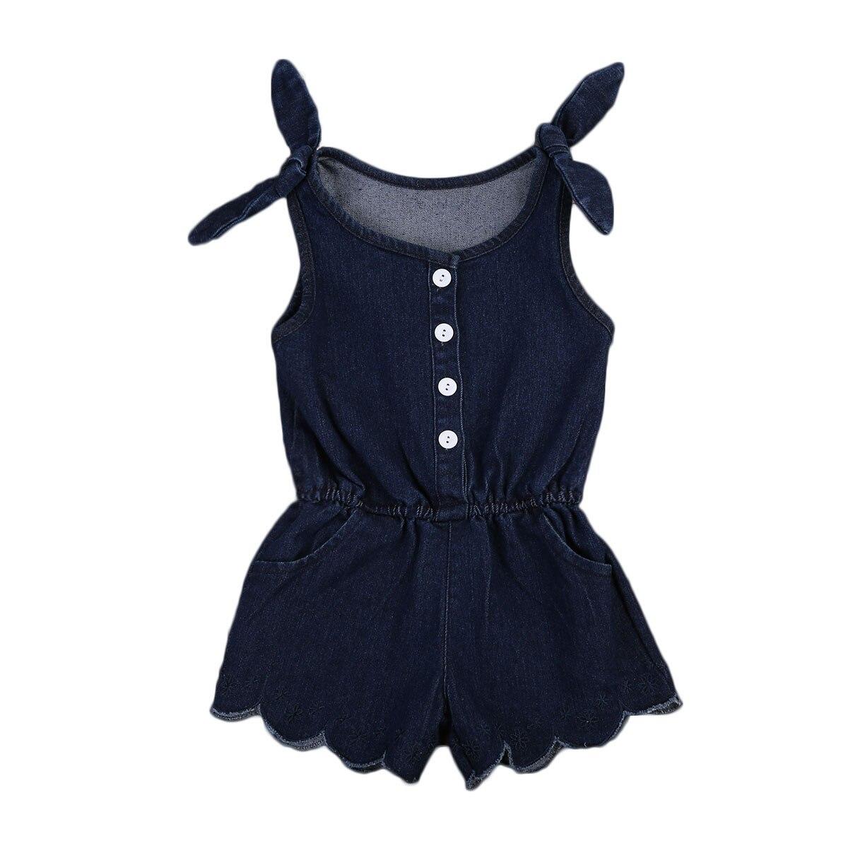 Baby Clothing Newborn Toddler Kids Baby Girls denim Romper Button Jumpsuit Outfits Denim Sunsuit Clothing