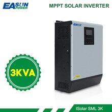 EASUN POWER inversor híbrido de onda sinusoidal pura de 3KVA, 2400W, 24V, 220V, cargador de batería de regulador Solar MPPT incorporado