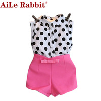 2015 Girls Summer Clothing Sets New Kids Cc With Crystal Tank Black Skirt 2pcs Clothes Set