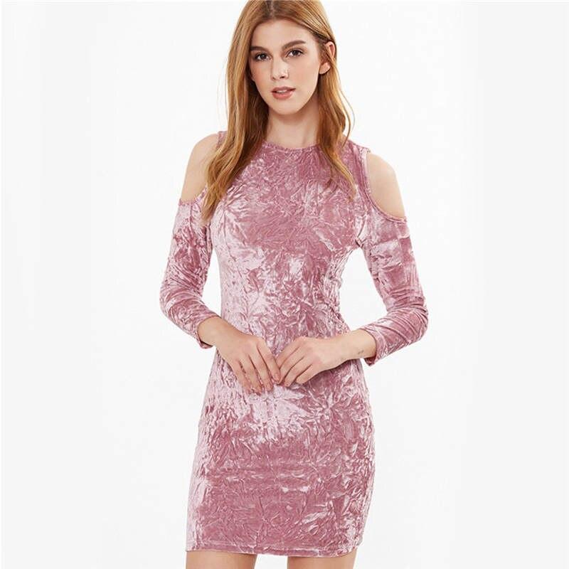 Fantástico Vestido De La Dama De Honor De Terciopelo Ideas Ornamento ...