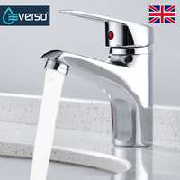 EVERSO Bathroom Basin Sink Faucet Chrome Single Handle Kitchen Faucet Cold And Hot Mixer Water Bathroom