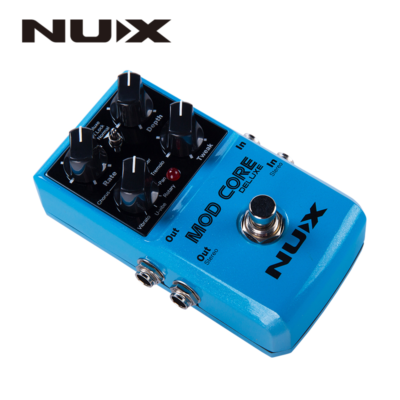 NUX Mod Core Deluxe Guitar Effect Pedal True Bypass 8 Modulation Effects Preset Tone Lock for Electronic Guitar and Bass in Guitar Parts Accessories from Sports Entertainment