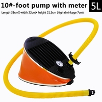 FLGT Portable Inflatable Foot Pump Air Pump For Boat Kayak Raft With Pressure Gauge